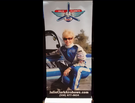 Julie Clark Air Shows Banner Stands